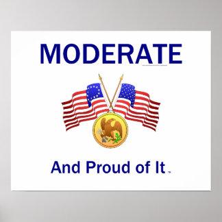 Moderate orgulloso de la CAMISETA Posters