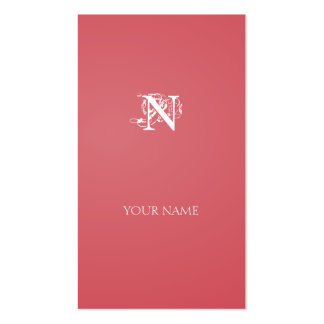 Moderate Red Nouveau vertical line Double-Sided Standard Business Cards (Pack Of 100)