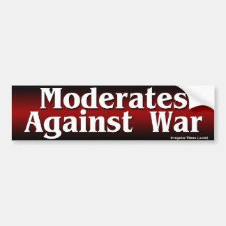 Moderates contra guerra pegatina para auto
