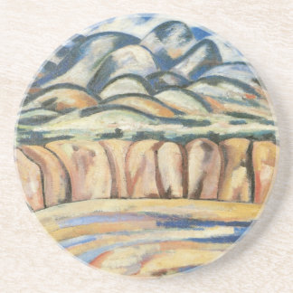 Moderism Landscape, New Mexico by Marsden Hartley Drink Coaster