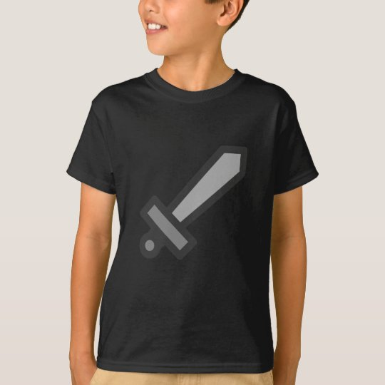 modern15-sword_Vector_Clipart weapon law silver T-Shirt
