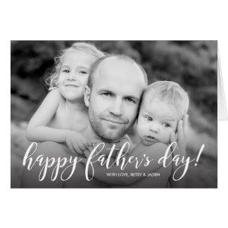 Modern 1-Photo Father's Day Card