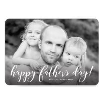 Modern 1-Photo Father's Day Card