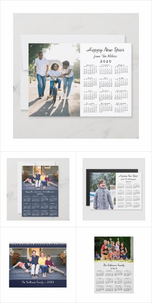 Modern 2020 Calendar Custom Photo Cards and Gifts