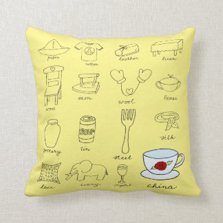Modern 20th Wedding Anniversary Gift For Home Throw Pillow