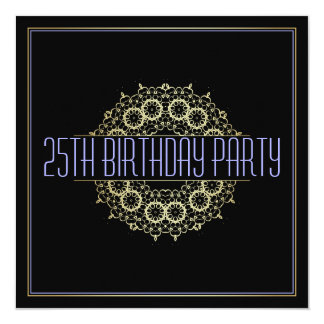Modern 25th Birthday Party | Bold Gold Swagger Card