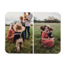 Modern 2 Family Photo Collage   Design Your Own Magnet