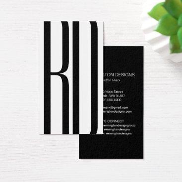 Professional Business Modern 2 Initial Vertical Business Card