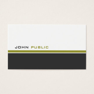 Modern 3 Color Business Card