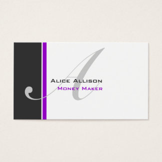 Modern 3 Color Monogram D Business Card