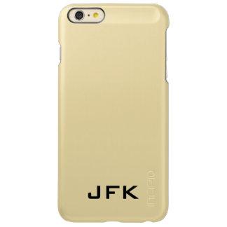Modern 3 letter monogram gold iPhone 6 plus case