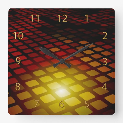 Modern 3d Abstract Square Pattern Square Wall Clock