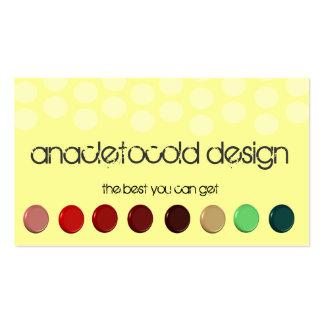 modern 3D buttons circles bussiness card