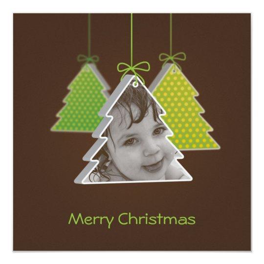 Modern 3d Christmas tree -photo christmas  card