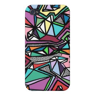 Modern 3D Cubism iPhone 4/4S Cover
