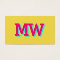 Modern 3D shade look yellow pop art Business Card