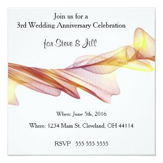 Modern 3rd Wedding Anniversary Invitation