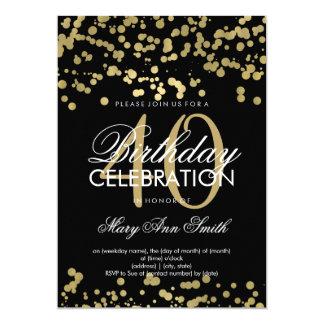 Modern 40th Birthday Party Gold Foil Confetti Card