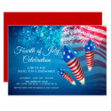 Modern 4th of July Fireworks Invitation