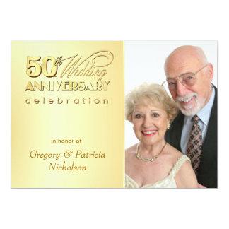 Modern 50th Anniversary Party - Photo Invitations