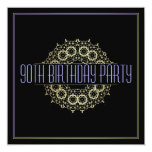 Modern 90th Birthday Party   Bold Gold Swagger Card