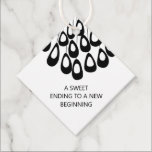 """Modern A Sweet Ending to a New Beginning Wedding Favor Tags<br><div class=""""desc"""">Modern. Minimal. This collection uses stylized peacock feathers to create an elegant look for your special day.</div>"""