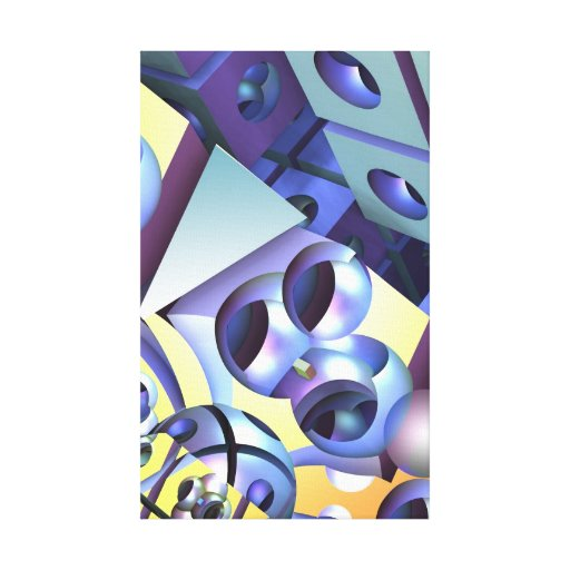 Modern Abstract 3-D art Stretched Canvas Print