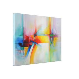 Modern Abstract Acrlylic Painting Canvas Print