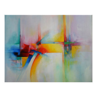 Modern Abstract Acrlylic Painting Poster