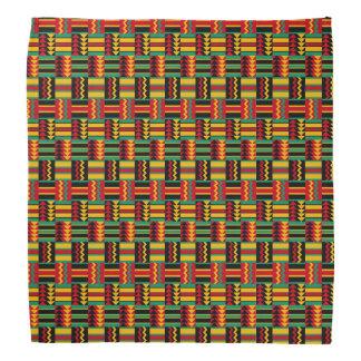 Modern Abstract African Art Pride Red Yellow Green Bandana