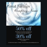 """modern abstract aqua blue ripple plumber flyer<br><div class=""""desc"""">modern abstract aqua blue ripple plumber business cards,  gift certificate and promotional products such as flyers,  coupons.</div>"""