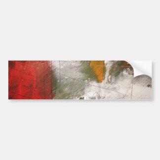 Modern Abstract Art Bumper Sticker