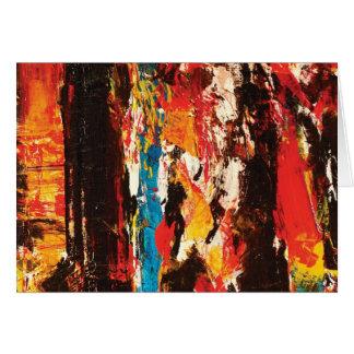 Modern Abstract Art Card