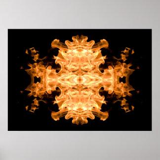 Modern Abstract Art | Flaming Rorschach Test 01 Poster