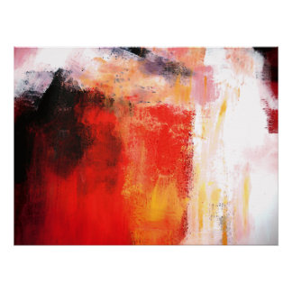 Modern Abstract Art Gloss Canvas Print