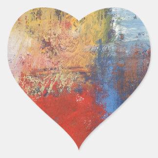 Modern Abstract Art Heart Sticker