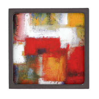 Modern Abstract Art Jewelry Box