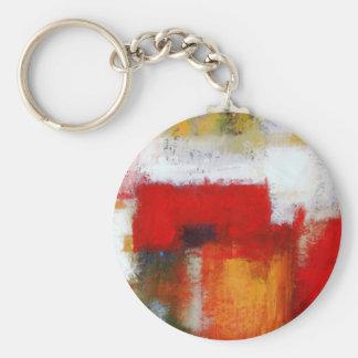 Modern Abstract Art Keychain