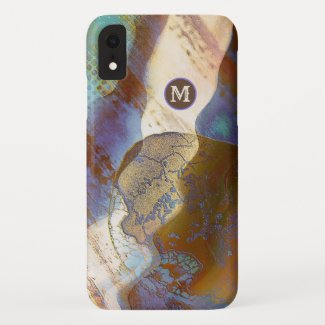Modern Abstract Art Painting Monogram Phone Case