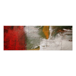 Modern Abstract Art Panoramic Poster Print