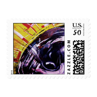 Modern Abstract Art Postage Stamp