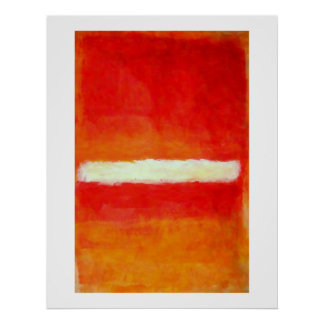 Modern Abstract Art Poster - Rothko Style
