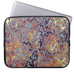 Modern Abstract Art Red Yellow Black Laptop Sleeve