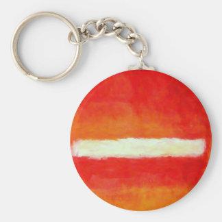 Modern Abstract Art - Rothko Style Keychain