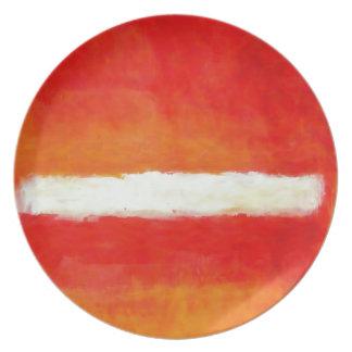 Modern Abstract Art - Rothko Style Plate