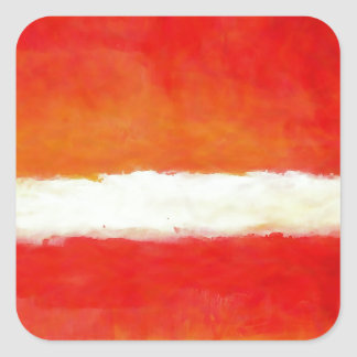 Modern Abstract Art - Rothko Style Square Sticker