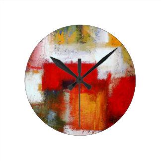 Modern Abstract Art Round Clock