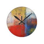Modern Abstract Art Round Wall Clocks