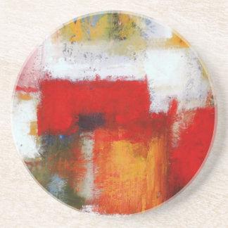 Modern Abstract Art Sandstone Coaster