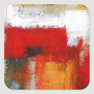 Modern Abstract Art Square Sticker